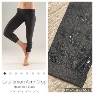 Lululemon RARE Acro crop in silicone peacock 4